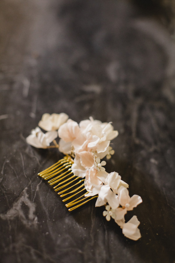wedding jewellery flower comb for wedding hairstyle