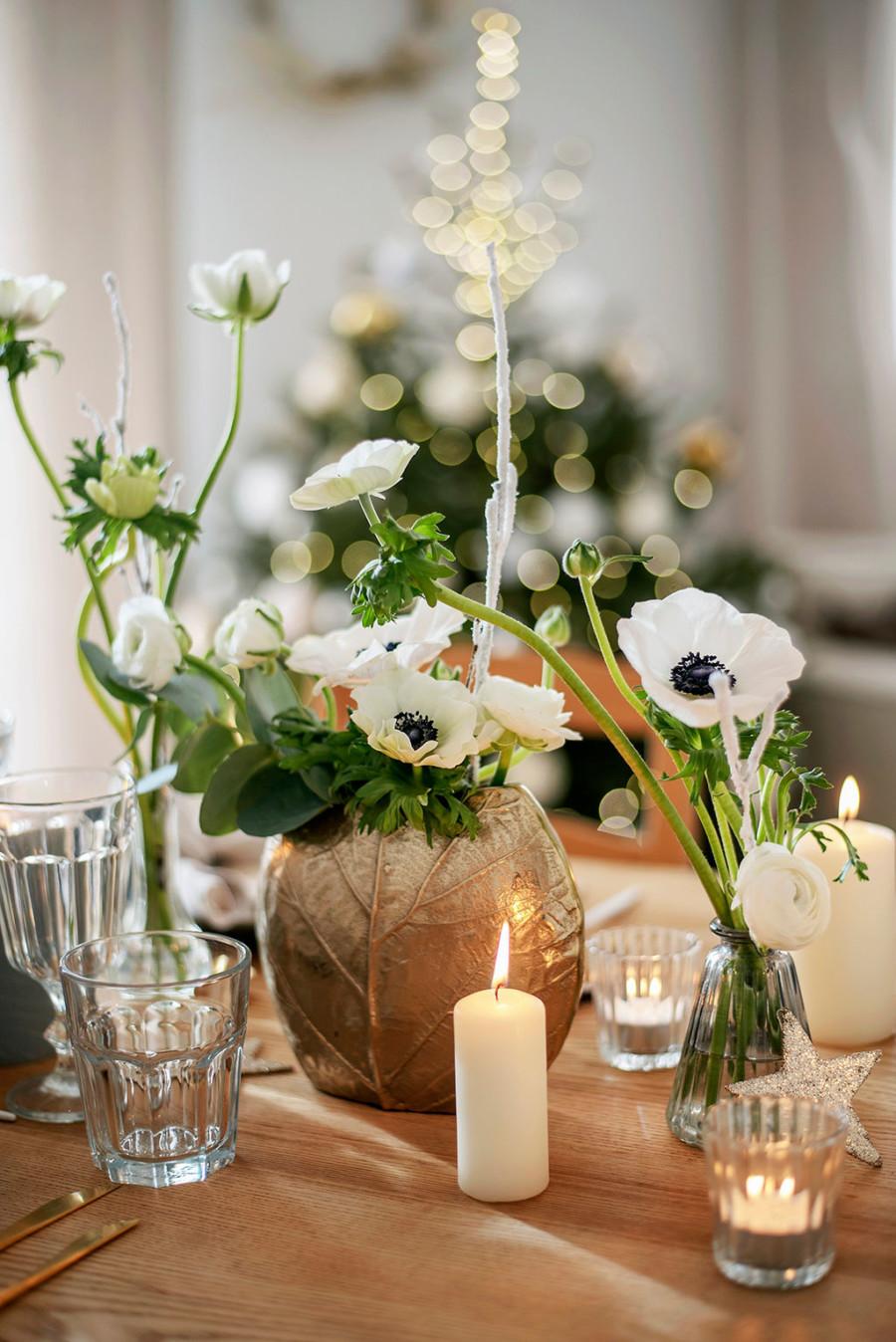 christmas challenge 2020 challenge noel deco table noel noel tendance noel couleur blanc or bois et sapin